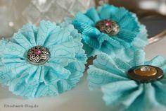 Blumen zum Muttertag? Diese sind aus Stoff selbstgemacht und leicht zu nähen! Gratis-Anleitung ;-)
