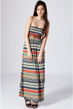 Tribal Maxi Dress -