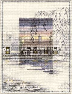 Lily Pond Cottage - Sunsets - Cross Stitch Kit by Derwentwater Designs
