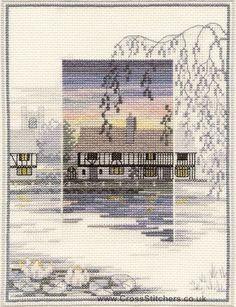 Lily Pond Cottage - Sunsets - Cross Stitch Kit by Derwentwater Designs