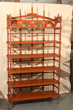 old paint spool shelf For Sale at 1stdibs