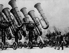 'The war tuba is a colloquial name sometimes applied to Imperial Japanese Army acoustic locators due to the visual resemblance to the musical tuba'    - Wikipedia