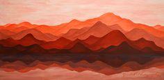 Ode To Silence / Acrylic on canvas / March 2016 https://www.facebook.com/goodallphoto #mountains, #peak, #height, #mount, #prominence, #summit, #pinnacle, #alp, #range, #sierra, #cordillera, #massif, #orange, #orange mountains, #sunset, sunset mountains, #acrylic, #acrylic mountains, #painting, #painting mountains, #reflection, #water, #water reflection, #lake, #mountain lake, #tangerine, #acrylic, #canvas, #acrylic canvas, #mountains acrylic, #mountains canvas, #art, #decor