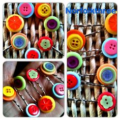 Button hairgrips
