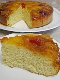 Gluten Free Pineapple Upside Down Cake Recipe: http://glutenfreerecipebox.com/gluten-free-pineapple-upside-down-cake/
