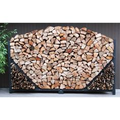 8-ft. (2.4 m) Straight Firewood Storage Rack
