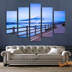 Material: Canvas Model Number: T5-0079 Frame mode: Unframed Subjects: Landscape Technics: Spray Painting Style: Modern Original: No Shape: Rectangle Type: Canvas Printings Frame: No Form: Multi-pictur