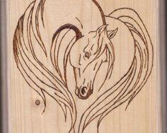 Pyrography Horse