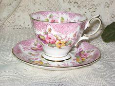 Royal Albert Cup and Saucer Floral Design Lovelace Pattern