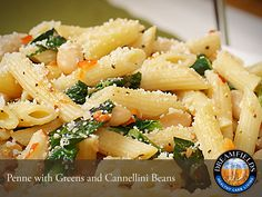 Penne with Greens and Cannillini Beans. Great tasting healthy pasta. Dreamfields Pasta has 5 grams of fiber, 7 grams of protein and a prebiotic fiber to help promote healthy digestion.