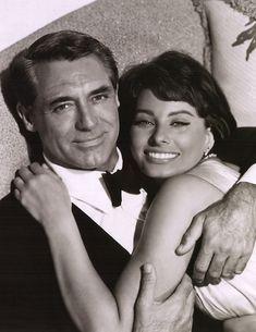 Famous Italians ~ #famousItalians #Italians #celebrities ~ Cary Grant and Sophia Loren in Houseboat