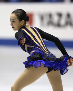 "iceskaterforlife: "" tokitama: "" Mao Asada NHK Trophy 2013 "" I knew this dress was a reuse, but I couldn't exactly recall when untill I found Figure Skating Costume's post Mao Asada's Bells of Moscow. Figure Skating Costumes, Ice Skating, Dance Costumes, Grand Prix, Gymnastics, Skate, Nice, Sexy, People"