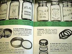 Different types of atlas mason jars