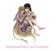 Alexander e Sephiri #lionthestone #simonapirillo   #illustrazione