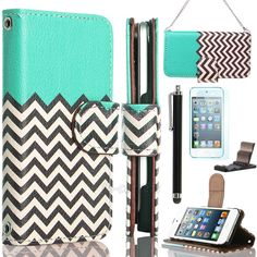 iPod Touch 5th Gen Flip Leather Wallet HIGH IMPACT ARMOR CASE BLACK HYBRID COVER #UnbrandedGeneric