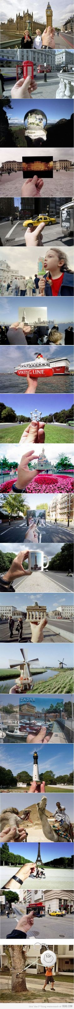 Such a cool idea for taking pictures!!!  That took some talent, and a lot of souvenirs....