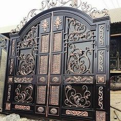 63 ideas for main entrance door design stairs Fence Gate Design, Steel Gate Design, Iron Gate Design, House Gate Design, Main Entrance Door Design, Main Door, Entrance Gates, Main Gate, Metal Gates