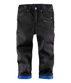 Boys Black Jeans with electric blue trim | Perfect with our Boys Neon Flash Jumper