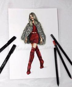 Fashion Design Sketchbook, Fashion Design Drawings, Fashion Sketches, Arte Fashion, Fashion Week, Fashion Models, Couture Fashion, Fashion Model Drawing, Fashion Drawing Dresses