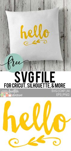 Download this Hello SVG file for your DIY project. This free SVG file will work Cricut and Silhouette cutters.