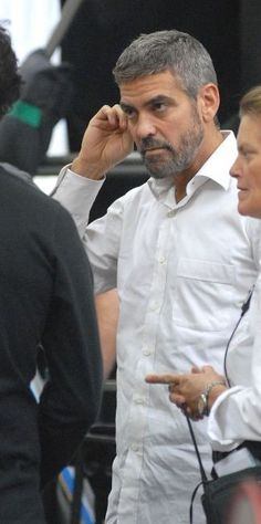 Beard Styles For Older Men, Hair And Beard Styles, Amal Clooney, George Clooney, Short Hair Cuts, Short Hair Styles, Male Haircuts, Celebrity Gallery, Rotten Tomatoes