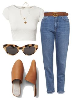 """Untitled #1330"" by nneomaswag on Polyvore featuring Topshop, River Island, Gucci, American Apparel and Kenneth Cole"
