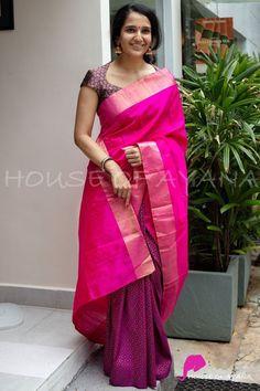 New Saree Blouse Designs, Blouse Designs High Neck, Fancy Blouse Designs, Bridal Blouse Designs, Designs For Dresses, Blouse For Silk Saree, Saree Blouse Models, High Neck Saree Blouse, Indian Blouse Designs