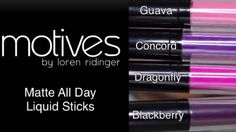 Love these new matte all day lippies by Motives. to by them visit www.global.shop.com/lindylou