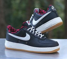 online store 0071a f7109 Nike Air Force 1  07 LV8 Low Black Sail Red White Gum Light Brown 718152