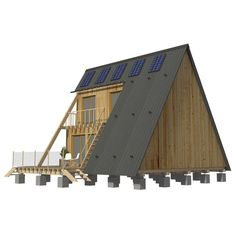 A-Frame Home Plans EmmaTwo Story Flat Roof House Plans The Roof House Save Continues in Berlin Danish Sigurd Larsen is a young architect and furniture designer graduated fro. Wooden House Plans, A Frame House Plans, A Frame Cabin, House Floor Plans, Patio Roof Covers, Flat Roof House, Two Bedroom House, Building Costs, Building Plans