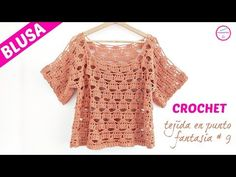 This cute blouse for spring or summer simple easy and quick to make with all the instructions in all sizes you want has a very nice design. Watch carefully to this easy step by step tutorial. Crochet gentle blouse to your perfect wardrobe enjoy it.