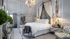 Tommy and Dee Hilfiger's Master Bedroom at the Plaza, designed by Cindy Rinfret