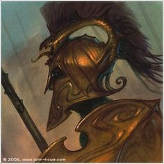 Turin Turambar wearing the Dragon Helm.