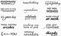 Fillable Frames Sentiments Stamp Set: Papertreyink