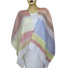 Écharpe en lin Rectangulaire fait à la main de l'Inde: Amazon.fr: Vêtements et accessoires