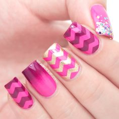 Easy Chevron Nails Tutorial | Wink And Blush