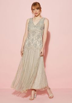 RoaringTwentiesThemedClothing All Aisles on You Dress in Champagne $250.00 AT vintagedancer.com