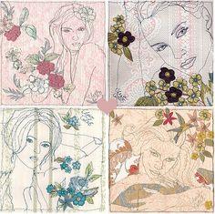 Claire Coles by decor8, via Flickr Line Artist, A Level Textiles, Thread Art, A Level Art, Vintage Theme, Textile Artists, Art Pages, Art Sketches, Fiber Art