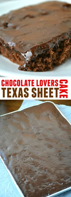 This Chocolate Lovers Texas Sheet Cake is so delicious and easy to make!