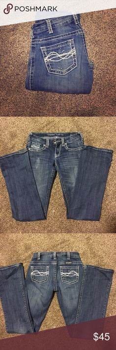 Cowgirl Tuff Jeans! Cowgirl Tuff Jeans! Only worn a couple of times! Too small for me! 25X35 Cowgirl Tuff Jeans Boot Cut