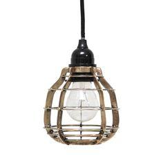 HK-living Colgando LAB lámpara con montaje para techo de metal, latón, Ø13x17cm