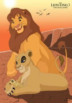 The art is good, but why does everyone insist on Kopa being King? Kiara is the future queen, and it says so in the movie. I believe that Kiara and Kovu became king and queen.