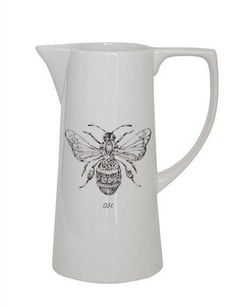 """10""""H Ceramic Pitcher w/ Bee..977 , Decor and Accessories - Vintage Market And Design, Vintage Market And Design"""