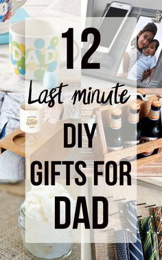 12 Handmade Gift Ideas for Him - Last Minute DIY Presents He Will Love! Handmade gift ideas for him. These last minute DIY gift ideas for dad are easy to make and include woodworking ideas and. Diy Birthday Gifts For Dad, Last Minute Birthday Gifts, Diy Gifts For Dad, Christmas Gift For Dad, Easy Diy Gifts, Diy Presents, Husband Birthday, Unique Gifts For Dad, Homemade Fathers Day Gifts