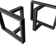 Industrial Table Legs Massive Structural Steel by ModernIronworks