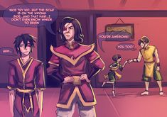 Ugh... by *moni158 on deviantART -- haha toph is so cute in the background