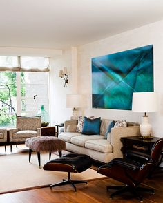 Vibrant painting, soft cream tones, punctuated with dark browns and black. Mad men (photo by Zach DeSart)