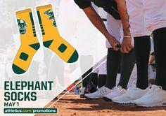 May 1, 2016 the #OaklandAthletics giveaway Elephant Socks | 15,000 fans Tickets: http://atmlb.com/1VkkDlJ