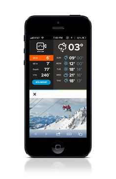 Snowbird.com by Rally Interactive, via Behance