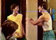 tom cruise behind the scenes rob lowe so cute the outsiders